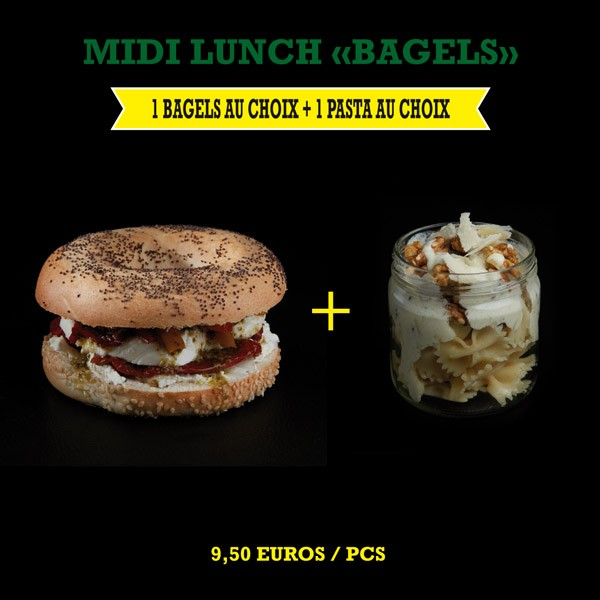 Menu Midi Lunch Bagel + Pasta