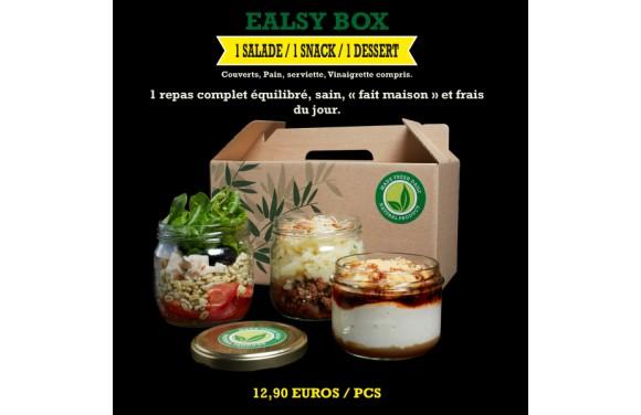 Ealsy Box / CETTE SEMAINE : LASAGNE BOEUF & LEGUMES / SALADE JAR / DESSERT FAMOUS