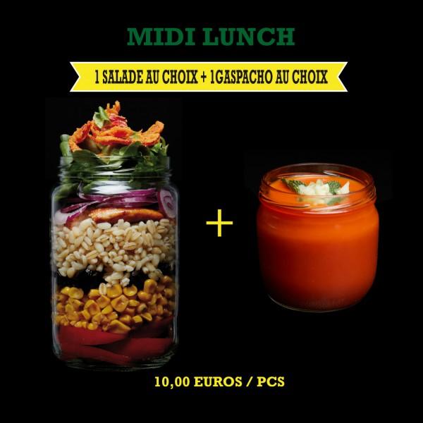 Menu Midi Lunch Salade + Gaspacho