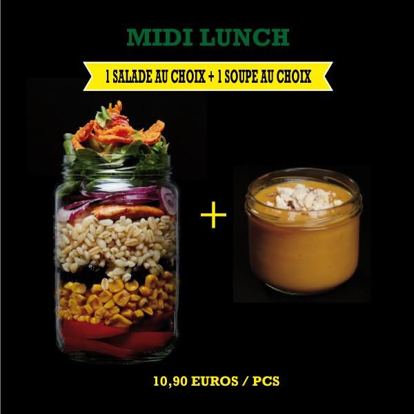 Menu Midi Lunch Salade + Soupe