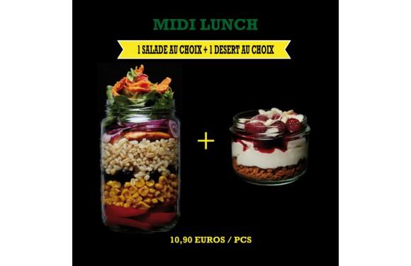 Menu Midi Lunch Salade + Dessert