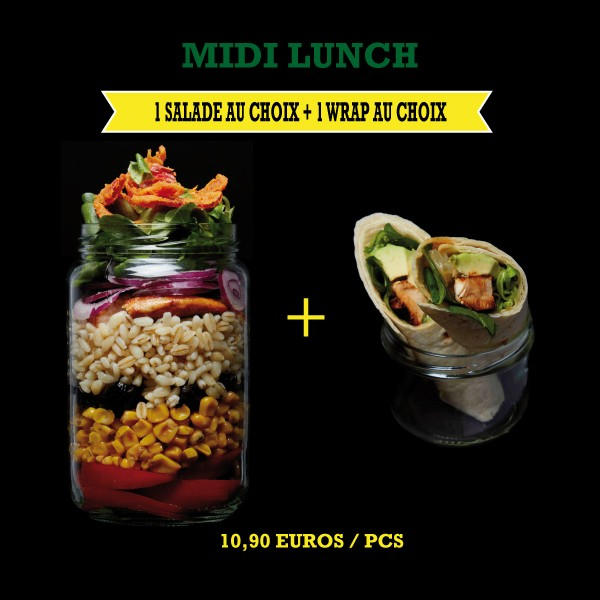 Menu Midi Lunch Salade + Wrap