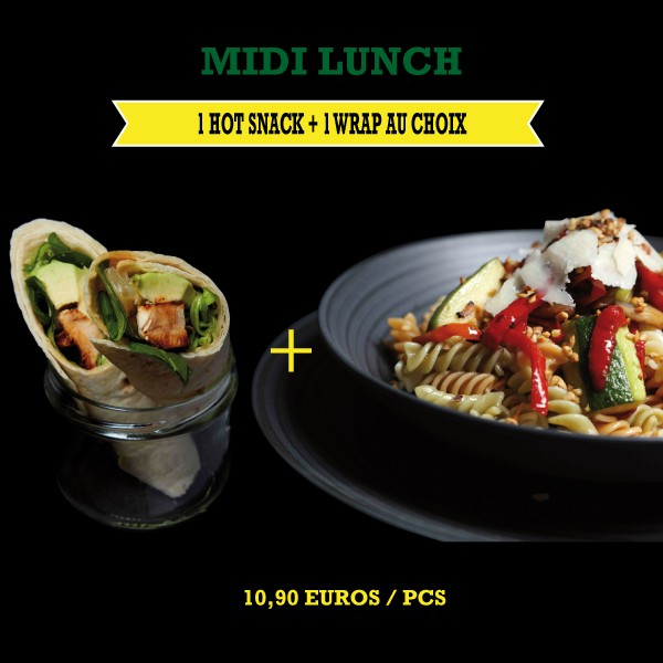 Menu Midi Lunch Hot Snack + Wraps
