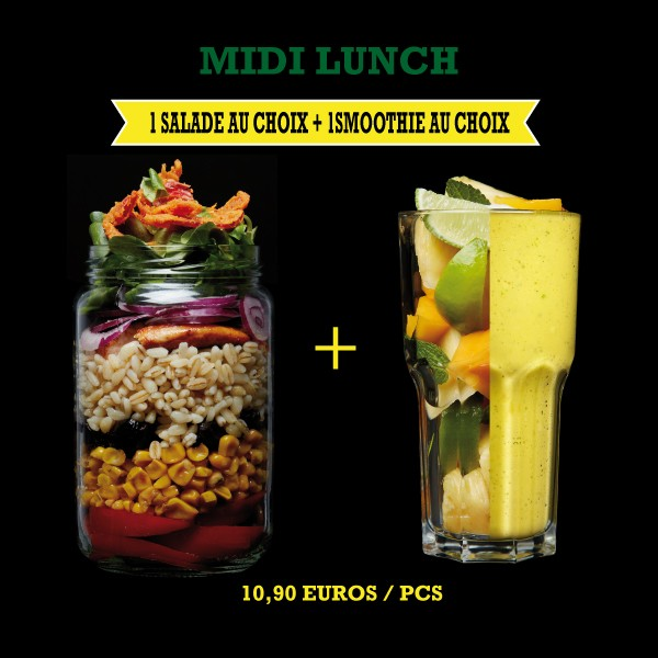 Menu Midi Lunch Salade + Smoothie